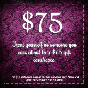 75 gift certificate